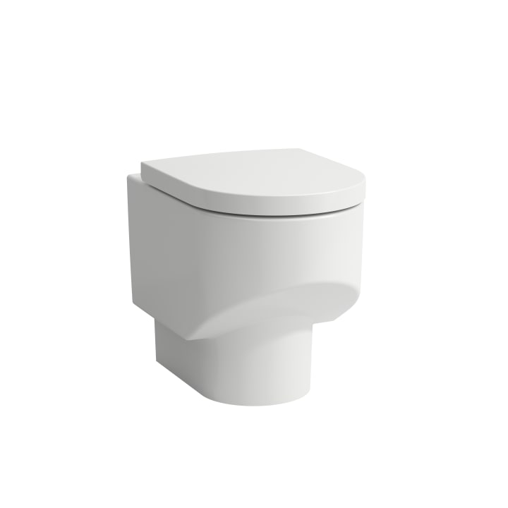 Floorstanding WC 'rimless', washdown, without flushing rim, outlet horizontal/vertical