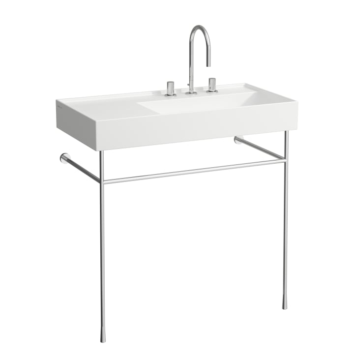 Washbasin frame, chromed, matches washbasin 810338, 810339