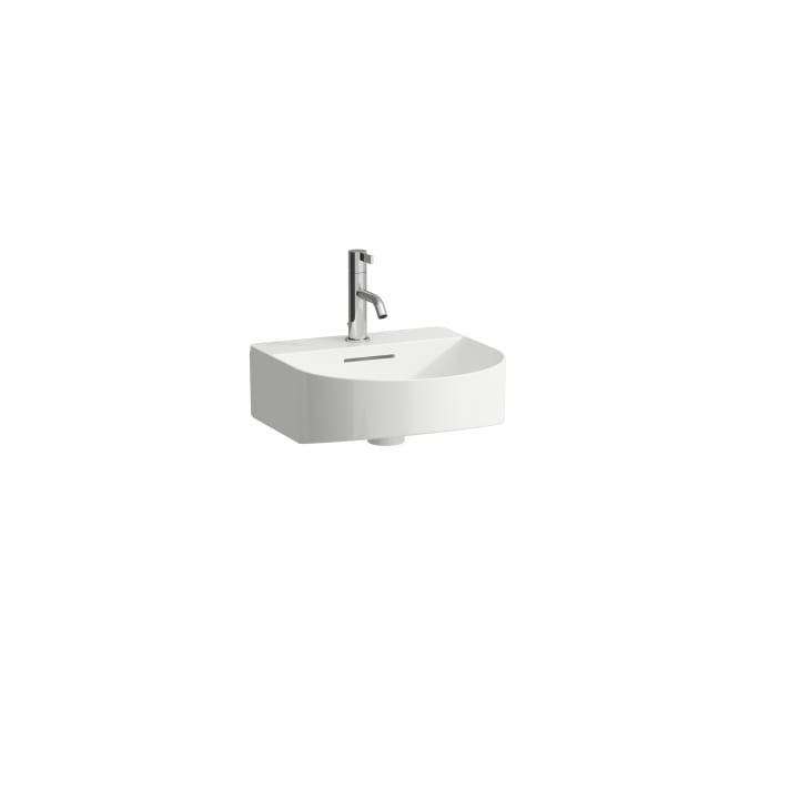 Small washbasin, undersurface ground, incl. ceramic waste cover