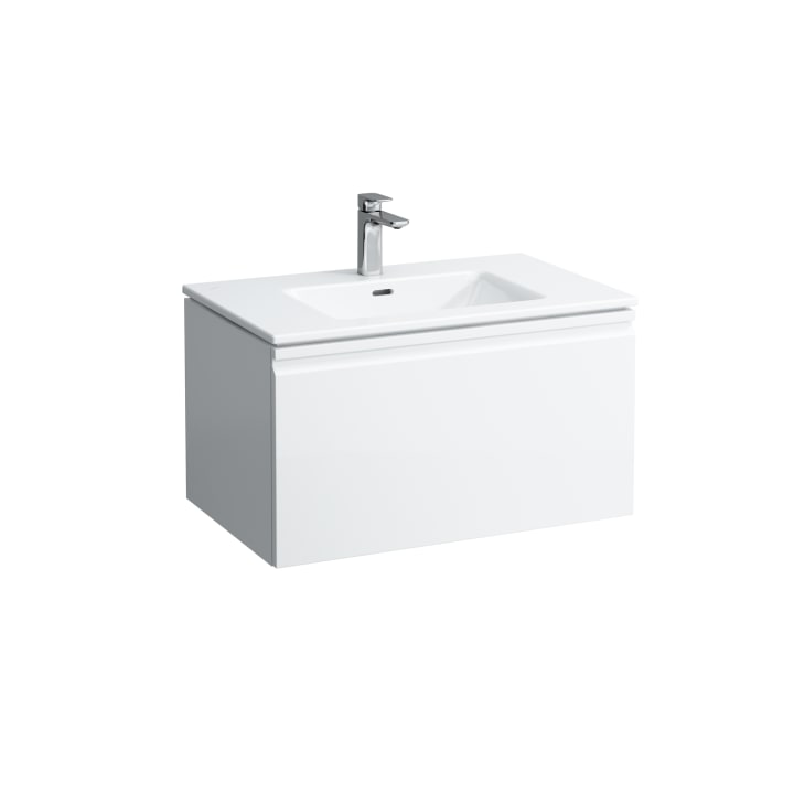 Combipack 800 mm, washbasin 'slim' with vanity unit 'Pro' with drawer and interior drawer, incl. drawer organiser