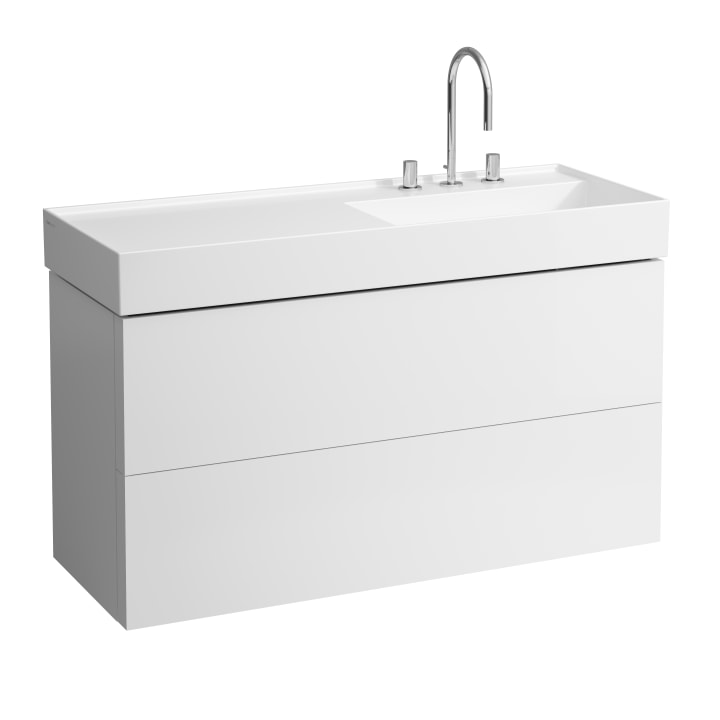 Vanity unit, 2 drawers, incl. drawer organiser, matches washbasin 813333