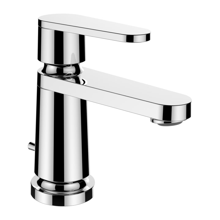 Single lever basin mixer, projection 105 mm, fixed spout, without pop-up waste