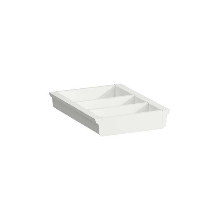 Organiser 'small', small depth, for vanity unit, lacquered matt white