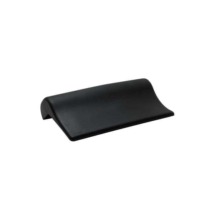 Neck cushion, black, self-adhesive, for straight bathtub contours