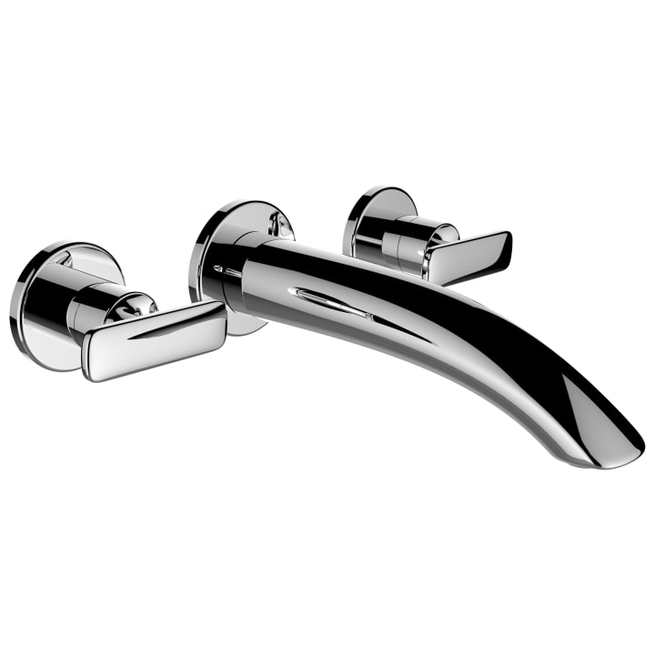 Twin handled concealed basin mixer, projection 190 mm