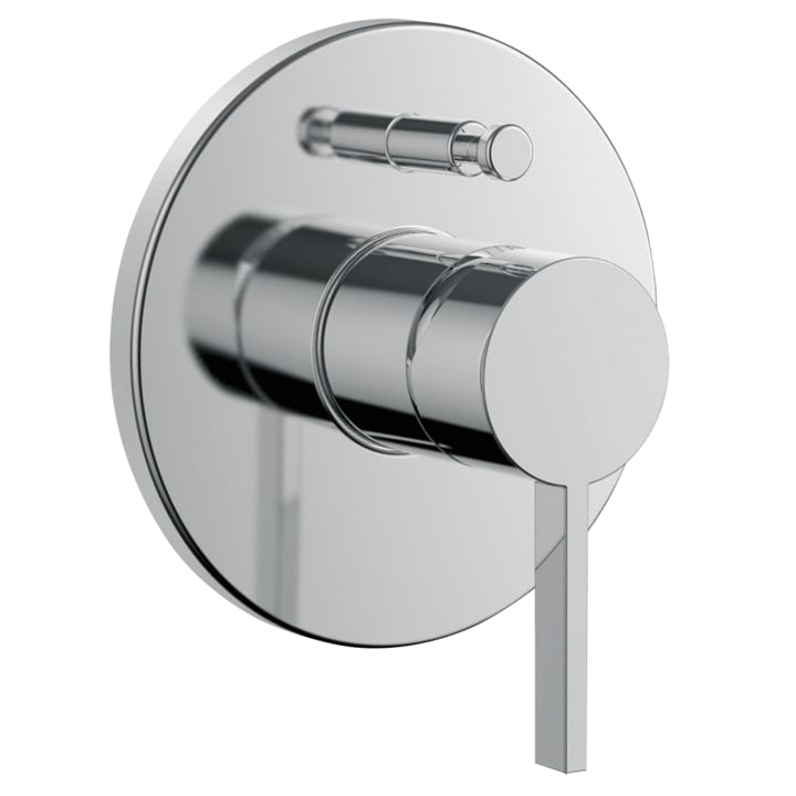 Set for concealed single lever bath mixer, with diverter