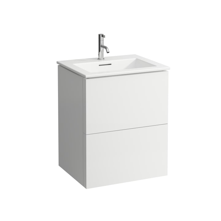 Combipack 600 mm, washbasin 'slim' with vanity unit with 2 drawers, incl. drawer organiser