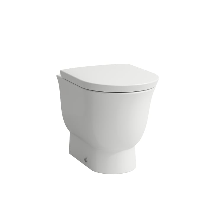 Floorstanding WC, washdown, rimless, outlet horizontal or vertical