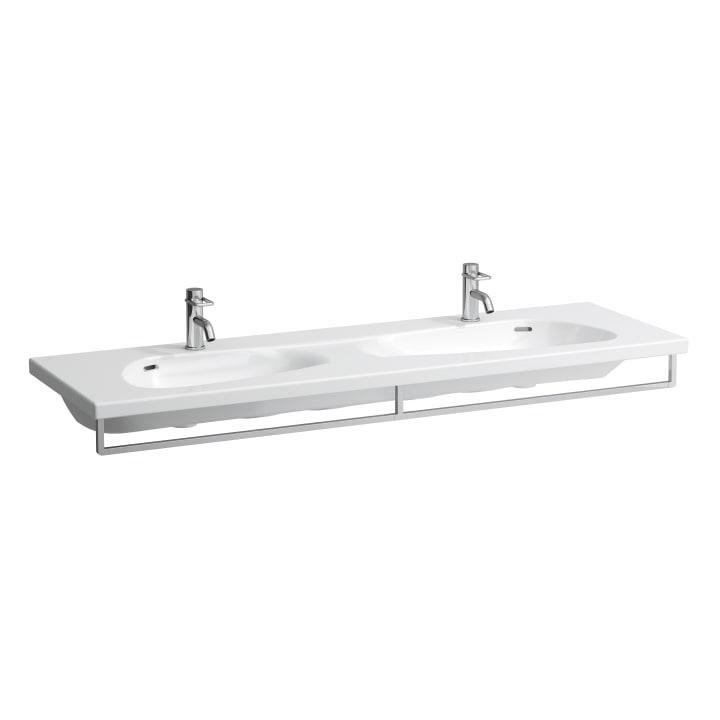 Towel holder, chromed, matches double washbasin 814809
