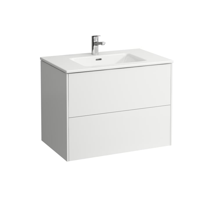 Combipack 800 mm, washbasin 'slim' with vanity unit 'Base' with 2 drawers, incl. drawer organiser