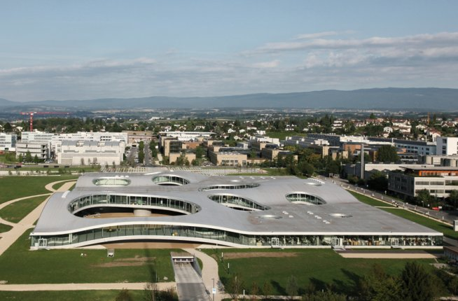 Rolex Learning Center, Switzerland, architecture, design