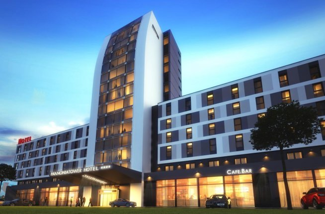 Pannonia Tower Hotel, design, laufen, hotel